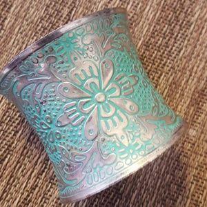 Jewelry - Patina Patterned Cuff